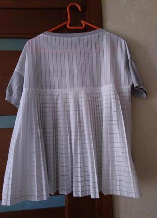 Блуза со спинкой плиссе, перфорация, french connection