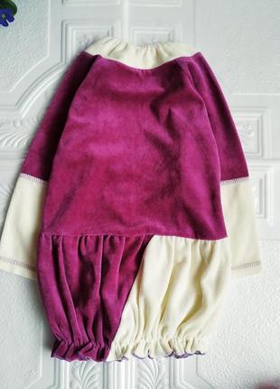 Нарядное бархатное велюровое платье с вышивкой и пайетками5 фото