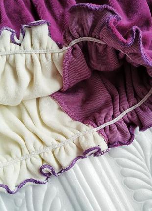 Нарядное бархатное велюровое платье с вышивкой и пайетками4 фото