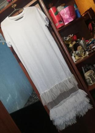 Просто чумовые платья!в наличии только белые р 46-48