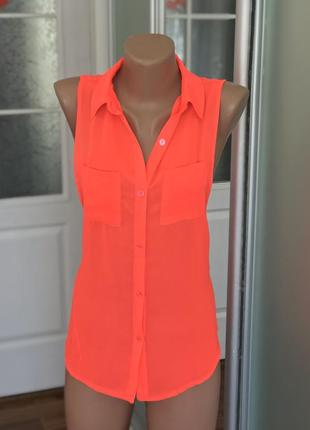 Красивенькая майка блузка блуза рубашка неоновая на лето