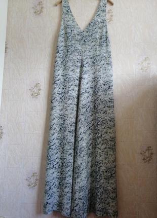 Длинное, шелковое платье. premium quality. h&m.3 фото
