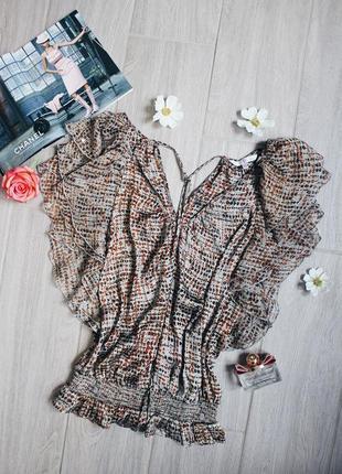 Воздушная шелковистая блуза/блузка/топ в цветочный принт от debenhams