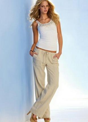 Светлые летние брюки с карманами, джогеры, галифе, бананы / италия 🇮🇹  обмен или продаж
