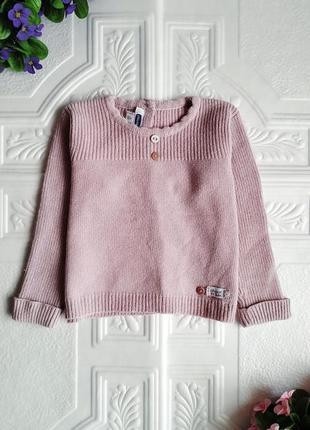 Теплый вязанный свитер chicco