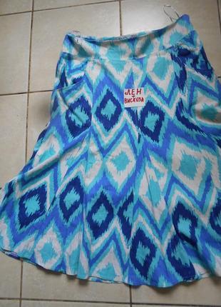 #m&co#льняная юбка на подкладке #