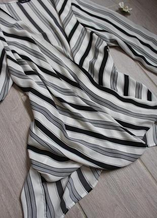 Стильная белая в черную полоску блуза/блузка от new look3 фото