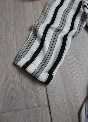 Стильная белая в черную полоску блуза/блузка от new look4 фото