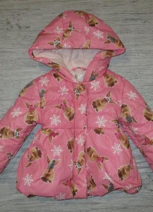 Хорошенькая демисезонная курточка в кролики фирмы m&co  на 12-18 мес.