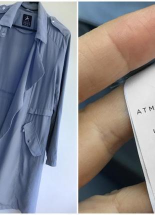 Натуральный тренч - платье, облегченный плащ тренчкот цвета индиго atm5 фото