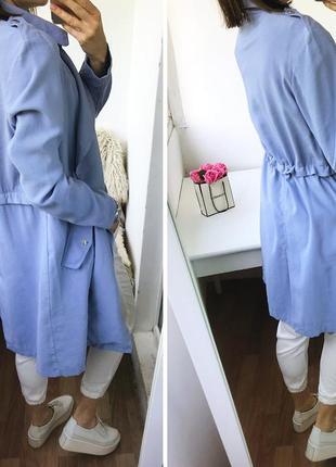 Натуральный тренч - платье, облегченный плащ тренчкот цвета индиго atm8 фото