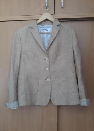 100% лен. стильный красивый оригинальный жакет пиджак riani max mara. оригинал1 фото