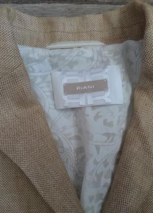 100% лен. стильный красивый оригинальный жакет пиджак riani max mara. оригинал3 фото
