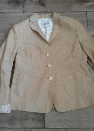100% лен. стильный красивый оригинальный жакет пиджак riani max mara. оригинал4 фото