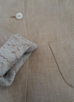 100% лен. стильный красивый оригинальный жакет пиджак riani max mara. оригинал8 фото