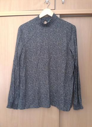 Стильная базовая французская блузка сорочка promod. оригинал
