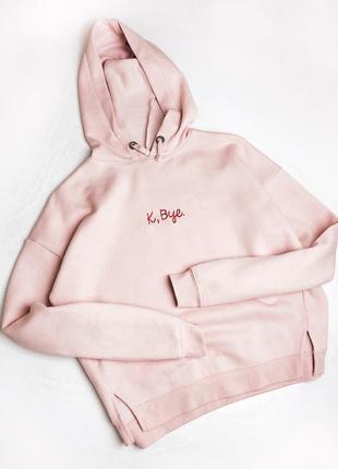 Худи кофта с капюшоном розовая размер xs new look