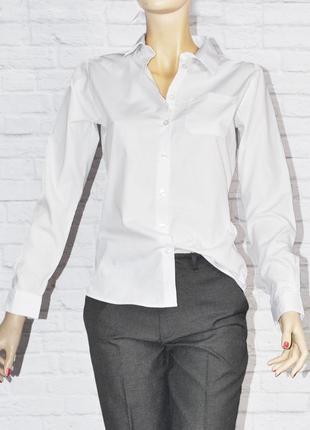 Белая рубашка с длинным рукавом на девочку george
