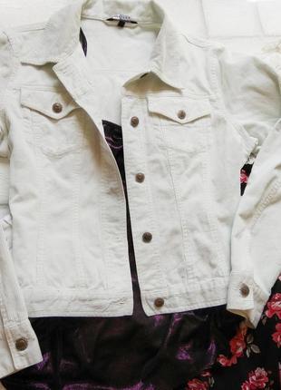 Крутющая вельветовая джинсовка h&m