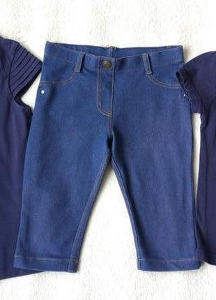 Комплект набор футболка, туника и шорты бриджи на 4-6 лет