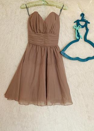 Платье-бандо с широкой резинкой на спине