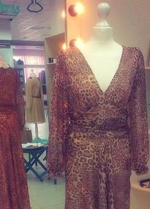 Леопардовое платье-макси leggi