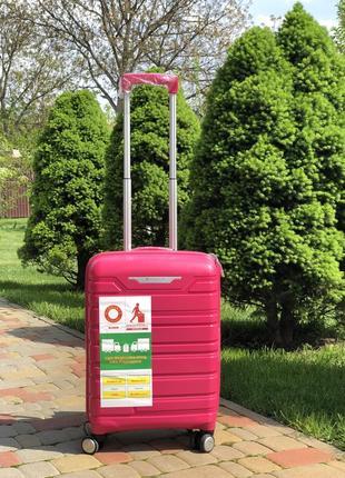 Качество! чемодан из полипропилена пластиковый чемодан малый ручная кладь франция
