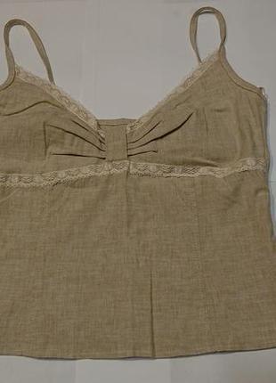 Женский топ майкаvilonna, m-l, 40р блуза блузка лен хлопок