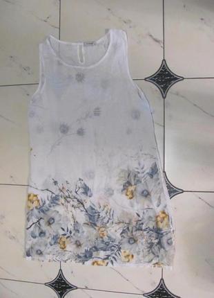 Лето платье цветы вискоза