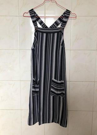 Полосатый сарафан платье zara