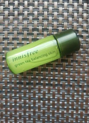 Балансирующий тоник с экстрактом зеленого чая  innisfree green tea balancing skin tonique