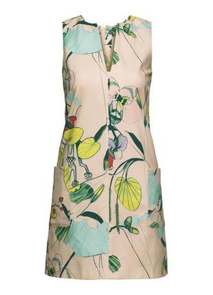 Дезайнерское платье в цветочный принт h&m