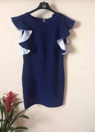 Платье вечернее , коктельное, нарядное , с рукавами  фонариками