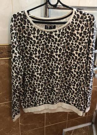 Леопардовый свитшот кофта с актуальным леопардовым принтом4 фото