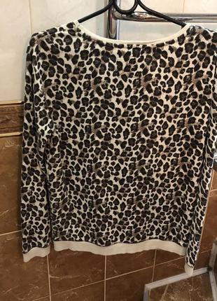 Леопардовый свитшот кофта с актуальным леопардовым принтом6 фото