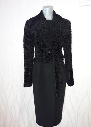 Супер красивое, невероятно стильное, комбинированное черного цвета пальто. stella polare