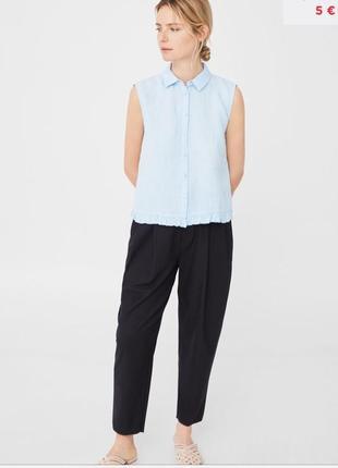 63b47f59a12 Женские льняные рубашки Mango 2019 - купить недорого вещи в интернет ...