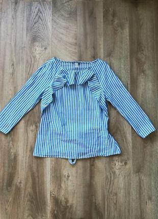 Блузка рубашка в полоску h&m