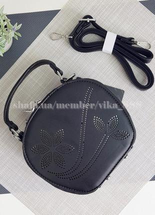 Клатч на два отделения, сумка через плечо 1265 черный
