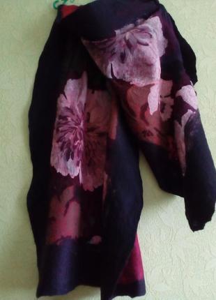 Красивый винтажный шерстяной палантин!