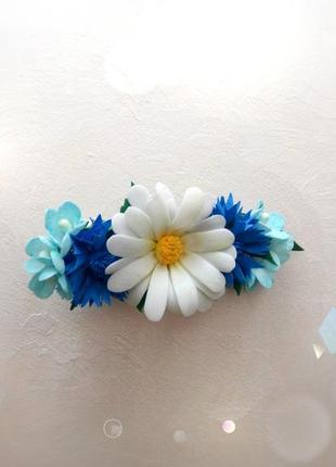 Заколка «польові квіти»