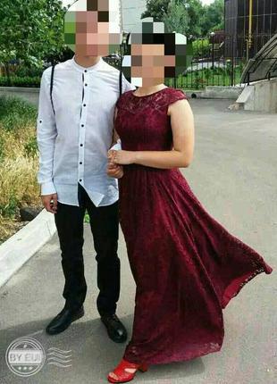 Выпускное платье с корсетом.