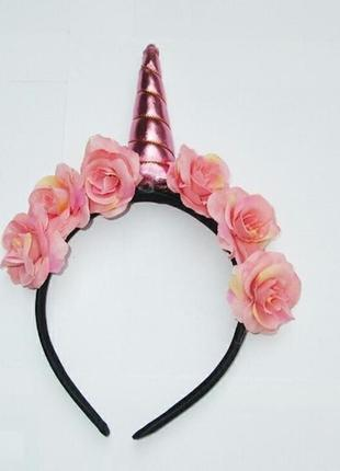 Есть другие цвета! модный обруч единорог розовый ободок