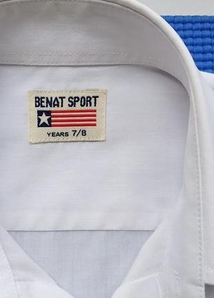 Белая нарядная рубашка сорочка мальчику на 7-8 лет, 134 см3 фото