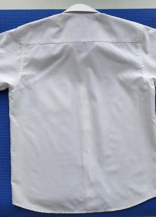 Белая нарядная рубашка сорочка мальчику на 7-8 лет, 134 см5 фото