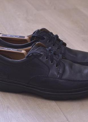 Мужские кожаные туфли кларкс кожа оригинал англия