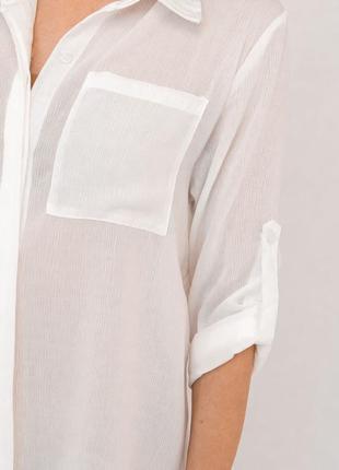 Пляжная туника-рубашка белая5 фото