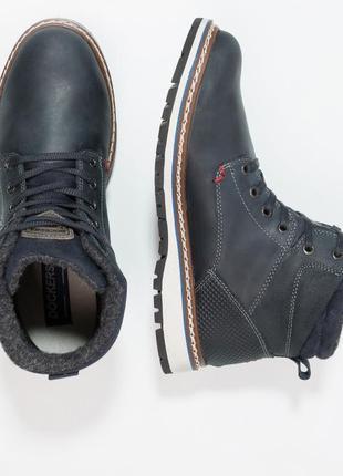 Кожаные мужские зимние ботинки dockers