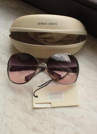 Элегантные тёмные очки giorgio armani (оригинал)
