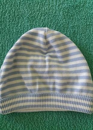 Трикотажная шапочка на 3 мес. (6 кг, 62 см)